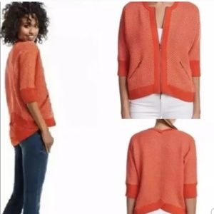 Cabi Cocoon Cropped Zip Up Sweater Top Size XS
